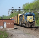 CSX 8406 Continues Threw the Signal Bridge