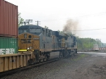 CSX S156 Lays On the Throttle and Throws Up some Smoke While at it