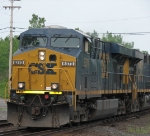 CSX 5370 Leads a Westbound Intermodel (Crossing Track 2 to Track 1)