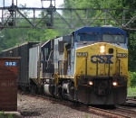 CSX Q626 Finds a Dip in the Rail and Rocks Heavly