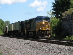 CSX Q114 Flys Past the Old Abundment