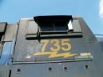 CSX 735 Cabside