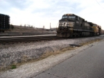 NS 9008 getting ready to leave Wentzville yard