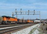 BNSF unit trains on NS