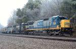 CSXT 7528 on NS grain train