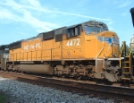 White Lettering on a UP SD70M