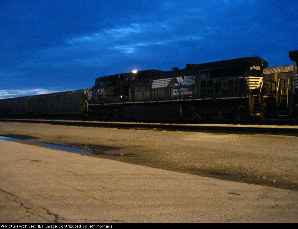 NS 9785 taken at 6:07 am