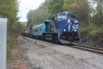GE 2011 leads a GE test car and 2 other test units South on the B&P