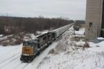 Empty Grain train on Christmas Eve awaiting crew back to Buffalo