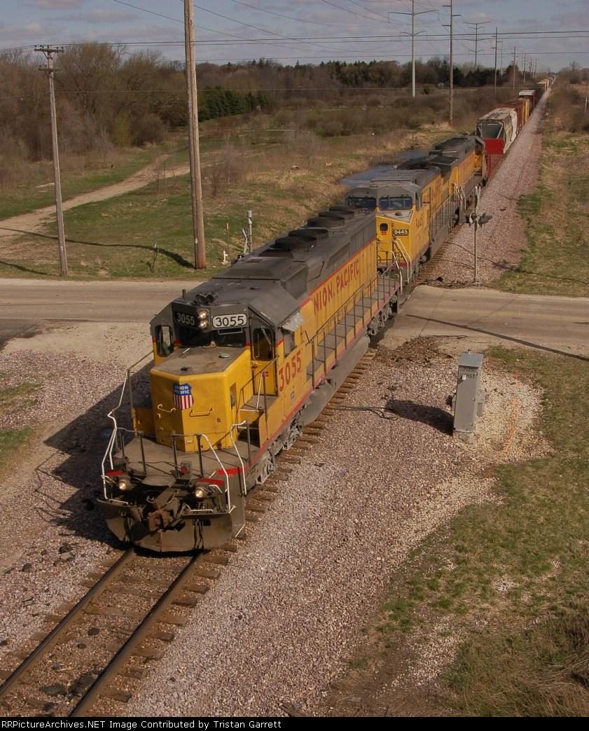 Train from bridge