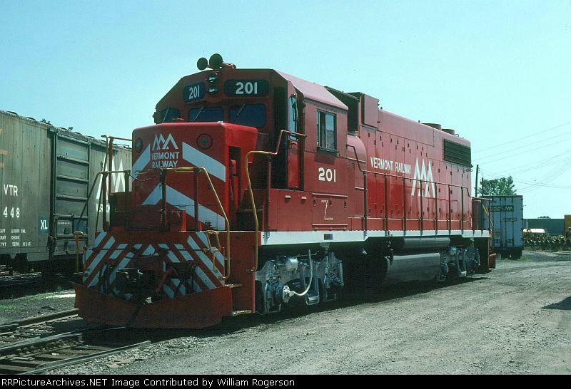 Vermont Railway EMD GP38-2 No. 201