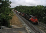CN 2604 COMING OFF THE DUNDAS SUB