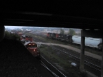 CN 7081 & IC 6051 UNDER WATERDOWN BRIDGE