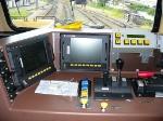 Interior of the cabin of locomotive C38-EMI 3912