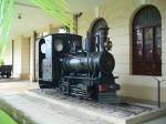 Antiga locomotiva a vapor da EFCB