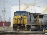 CSX 7744 Starts Up and Begins Deep Into the Yard