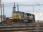 CSX 7744 Awaits a Thrown Switch