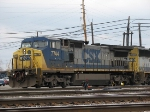 CSX 7744 Awaits Switching For a Few Minutes