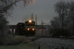 NS 9254 Opereation Lifesaver heads west at 35 MPH due to the fresh ice storm that came a couple hours before.