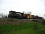 NS 5548 EB local is headed back to the yard after picking up a cut of cars on the west end of town.