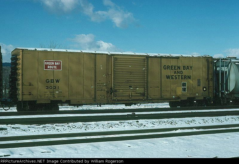 Green Bay and Western Railroad 50' Box Car No. 3031