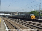 37602 and 37606 on 1Z18, 0934 Doncaster - Doncaster via King's Cross OHL test train. Stock is 72639, 72708, 72616, 975091, and 977869.