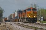 Southbound Z train meets coal empties