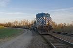 CEFX 1006 as DPU on southbound BNSF coal load