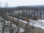 North-bound BNSF Grain Train Awaits a 'Go' Signal