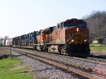 BNSF 4108 Moves Some New Tractors and Other Freight