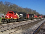 Seven (7) CN and IC Locomotives on a Grain Train!
