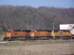 Two BNSF Dash-9W's and an Out-Of-Place UP SD70M Lead a BNSF Piggyback Excursion