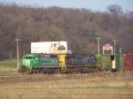 A Weird Power Lash-up for a BNSF Freight Train