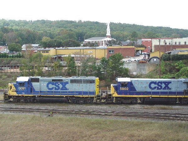 CSX 6061 and CSX 5907 staged and ready for yard service