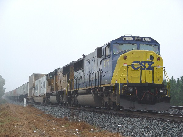 CSX 8777 in the hole