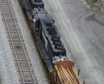 Straight SD40 from above