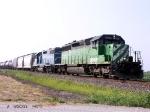 BNSF 7004 & EMDX 802 at Lovilia Iowa