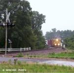 UP 7331 & 7300 running in the rain