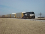 NS 9713 Wentzville Bound Empty Autorack Train For The GM Plant