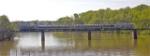 Annual excursion train crossing the Catawba River