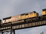 UP 5108 #2 power in a WB manifest at 7:55am