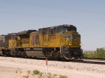 UP 8474 leads an EB intermodal at 1:07pm