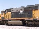 LTEX 8971 #2 power in an EB intermodal at 1:07pm