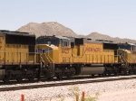 UP 4423 #2 power in a WB intermodal at 12:32pm