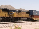 UP 4458 #4 power in a WB intermodal at 12:32pm