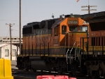 BNSF 2858 waits in the yard