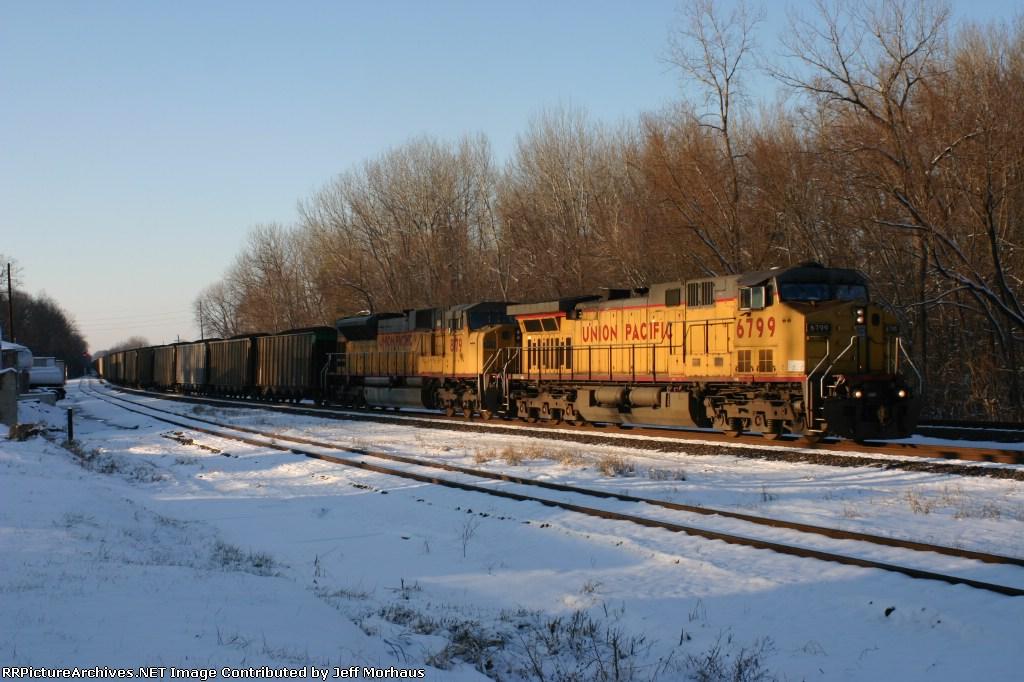 UP 6799  EB coal train