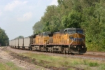 UP 6727 EB loaded coal on the second day of fall on this 85 degree day.
