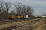 UP 9695  WB feight on this nice 55 degree day in January