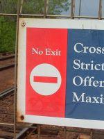 V/Line no exit sign